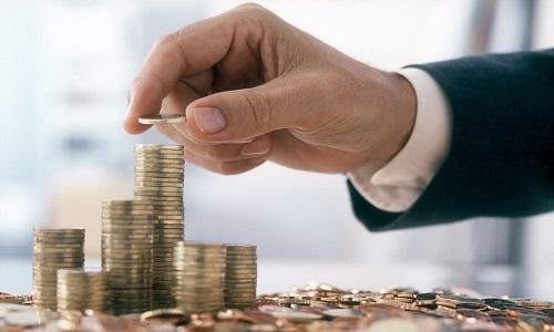 finances or man's hand sorting money