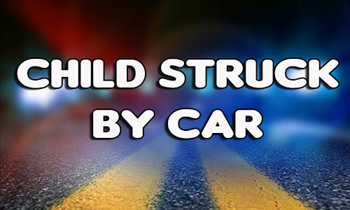 Child struck by car