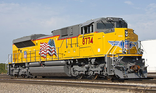 Union Pacific locomotive train