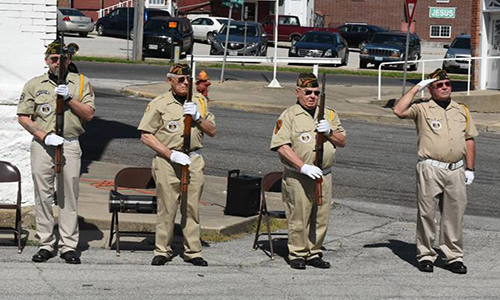 Trenton VFW members conduct flag raising ceremony on Memorial Day