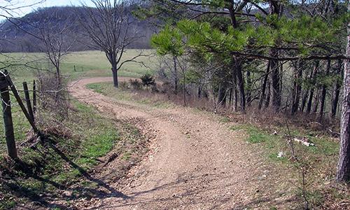 Rural farm road