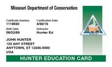 MDC Hunter Education Card