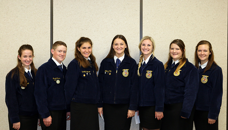 Chillicothe FFA students in fall speaking competition