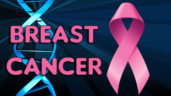 Breast Cancer DNA and Pink Ribbon