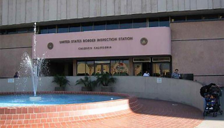US Border Inspection Station
