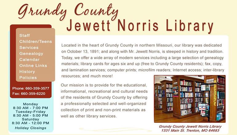 Grundy County Jewett Norris Library