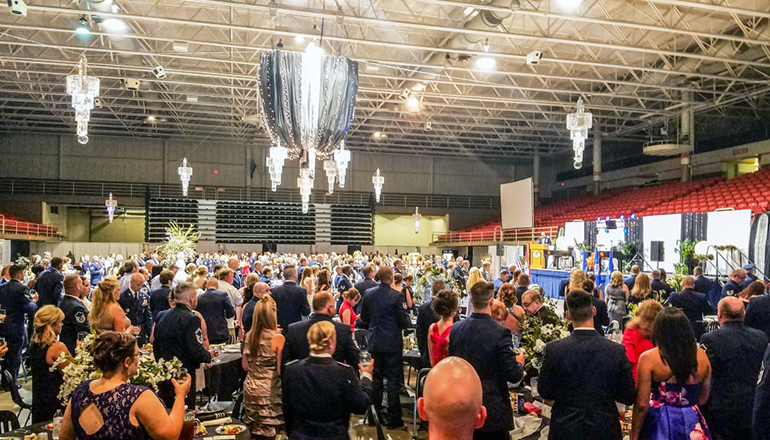 Missouri Guardsmen hold a military ball