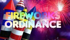 Fireworks Ordinance