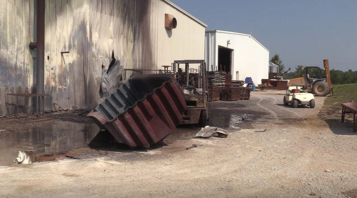 Fire at Coon Manufacturing Spickard, Missouri