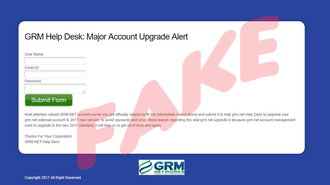 fake GRM Login