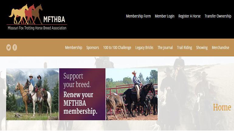 Missouri Fox Trotter Horse Breed Association Website