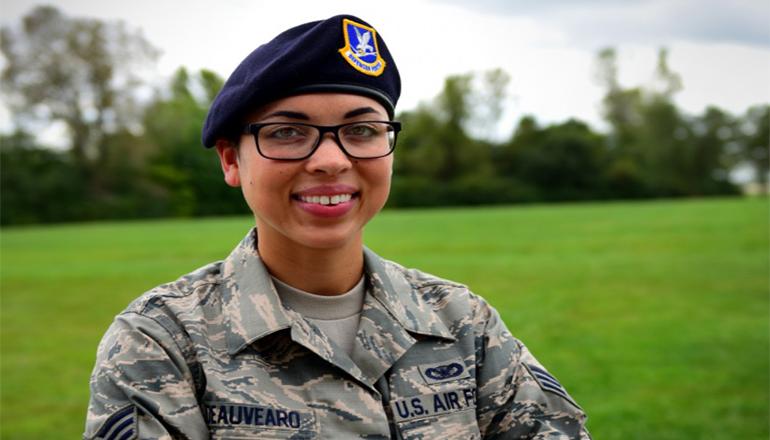 U.S. Air Force Senior Airman Jasmine Deauvearo
