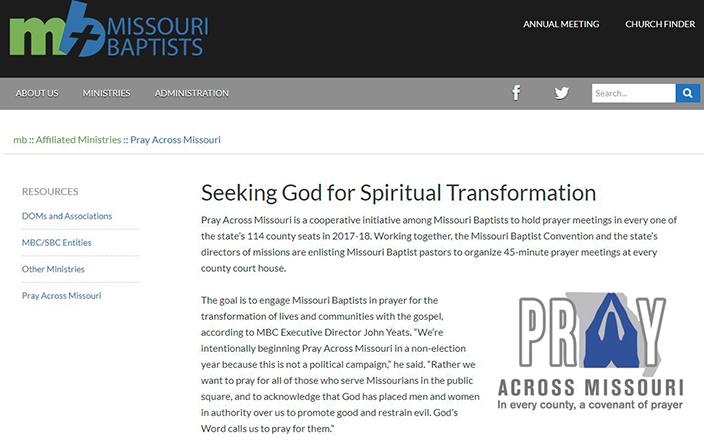 Missouri Baptist Convention Pray Across Missouri