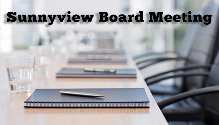 Sunnyview Board Meeting