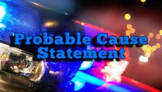 Probable Cause Statement