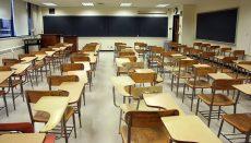Desks in School Room