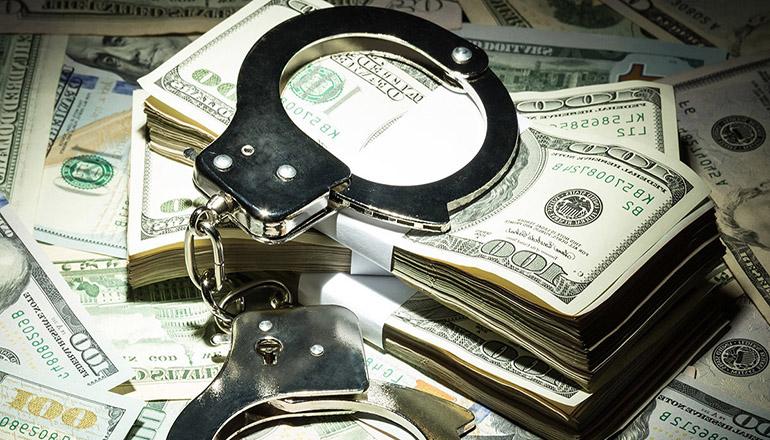 Handcuffs on Money