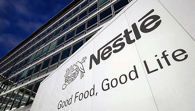Nestle Sign in front of Corporate offices