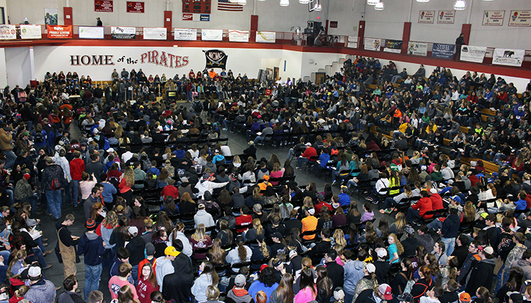 1,700 high school students from 75 high schools attended NCMC on March 22 for the annual NCMC Ag Contest day.