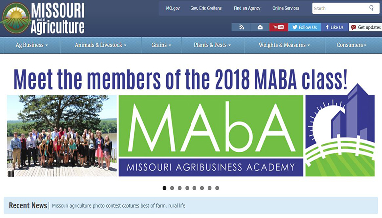 Missouri Department of Agriculture Website