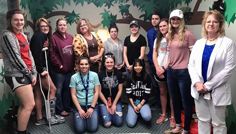 NCMC Child Psychology Class visits Children's Advocacy Center