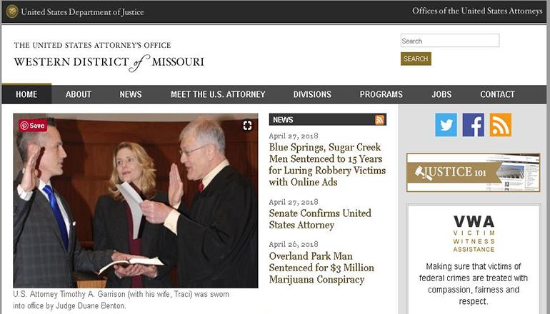 United States Western District of Missouri attorneys Website