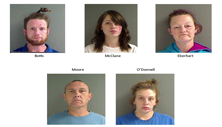 Cameron Police Department arrest 5 while looking for woman who failed to appear in court