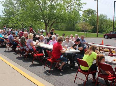 Community members enjoying the annual picnic.