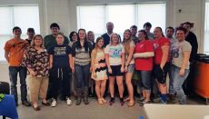 Senior class in Jamesport provided instruction in Hands-Only CPR with AED