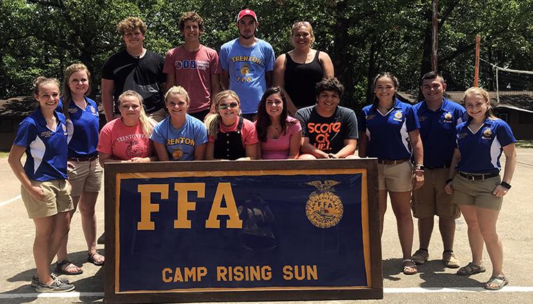 FFA Members at Camp Rising Sun