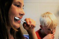 Children (Kids) Brushing Teeth