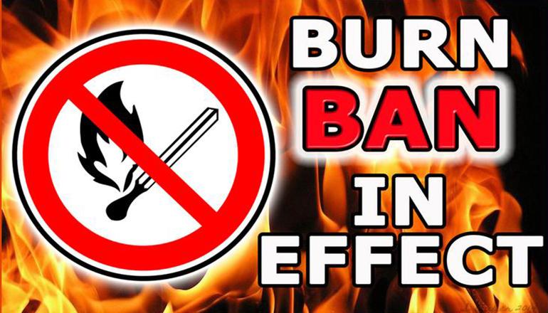 Burn Ban in Effect