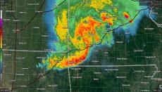 Derecho Storm on radar