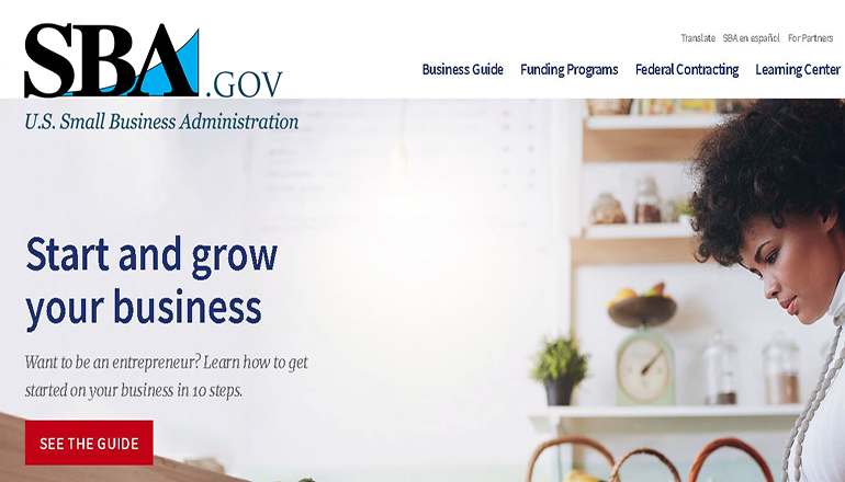 Small Business Administration Website