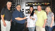 Black Silo Foundation presents check to Green Hills Women's Shelter