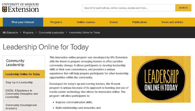Leadership Online Today Website