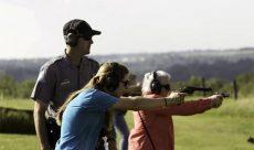 Women taking Firearms Course