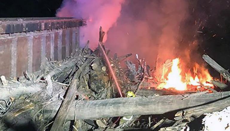 Canadian Pacific Railroad bridge fire (Photo Credit: Matthew Stirling)