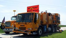 MoDOT painting lines on roads and highways