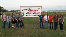 Members of the NCMC Shooting Sports who participated in the Hannibal-LaGrange competition were, from left to right: Seth McMullin, Caleb Sedmak, Ethan Hayes, Stetson Klise, Tyler Tipton, Zach Carr, TJ Hudlemeyer, Tyson McCrary, Wyatt Adams, and Jamee Scearce.