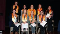 Front row (left to right) Nicole Shell, Audra Lee, Dacia Hoyle, Cassie Noble. Back Row (left to right) Lathan Croy, Michelle Dalton, DeAnna Dinwiddie, Shelby May, Stephanie Wright.