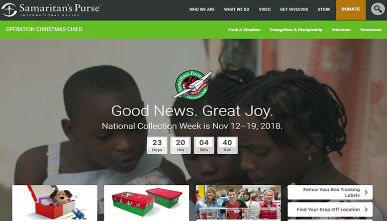 Samaritan Purse website