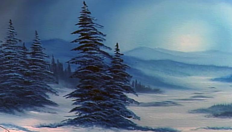 Bob Ross Winters Grace Painting
