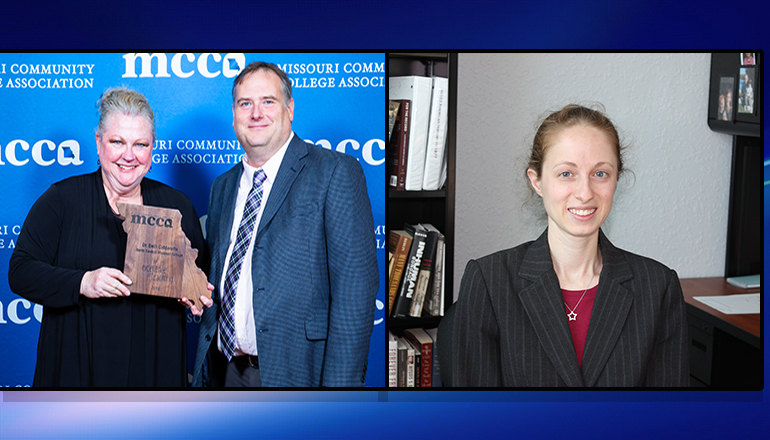 Dr. Beth Caldarello and Maryellen Harman Receive Governor's Award for Excellence in Teaching at MCCA