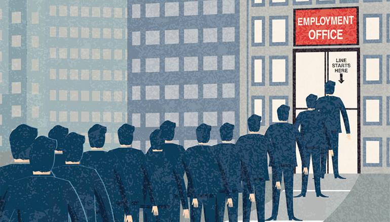 Unemployment or employment graphic
