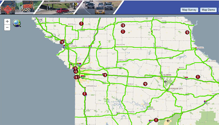 MoDOT Travelars Map Website