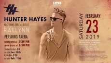 Hunter Hayes and Rael Lyn Ticket face