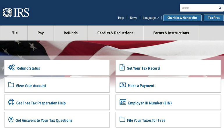 Internal Revenue Service (IRS) website