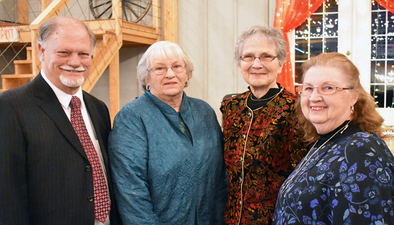 """(L to R) Allan Seidel, Delores Newton (Arthur """"Arnie"""" Arneson's sister), Evelyn Trickel and Delores Kuttler"""