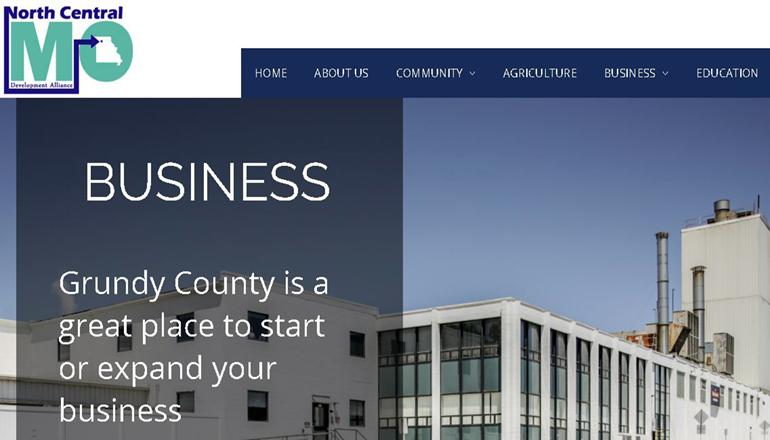North Central Missouri Development Alliance website